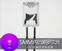 Mescolare 3Kinds Concavo piatto Top 5mm LED diodo, rosa / viola / colore bianco caldo