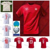 2021 Euro Cup Switzerland Soccer Jersey 9 Seferovic 8 Freuler 23 Shaqiri 6 Lang 7 Embolo Swiss Football Shirts Elvedi Akanji Zakaria Rodriguez