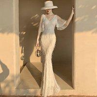 Elegant White Aso Ebi Prom Dresses Mermaid Cap Sleeves Floor Length Long Prom Dress Evening Wear Plus Size Elegant Formal Gowns