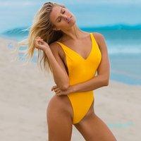 섹시한 여성 수영복 아가씨 섹시한 V 넥 1 명의 핏 수영복 순결 몬 키니 비키니 수영복 해변 뜨거운 판매 2021 양복