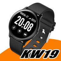 2021 KW19 Smart Watch Waterproof Blood Pressure Heart Rate Monitor Fitness Tracker Sport Intelligent Wristbands For Andriod with Retail Box