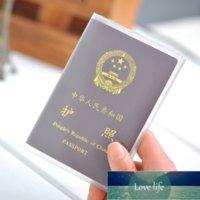 Travel Waterproof Dirt Passport Holder Cover Wallet Transparent Matte PVC ID Business Credit Holer Pouch