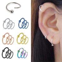 Nova moda Retro Round Beads Anel Nose Nostril Hoop Body Piercing Jóias Vintage Ear Stud Body Jóias