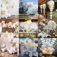5-36 дюймов Красивые свадебные шары белые латексные круглые мини-джамбо белый воздушный шар украшения арки мягкий светлый гелийский балун
