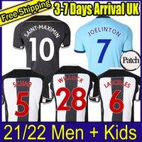 21 22 Newcastl e Futbol Formaları Ev Unite D Shelvey Wilson 2021 2022 Camisetas Joelinton Futbol Gömlek Almiron Ritchie Gayle Lewis Lceller Erkekler Çocuk Kitleri