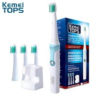 Smart Electric Toothbrush Kemei KM-907 3 In 1 Inductive Wireless Charger Ultrasonic Replacement Dupont Brush Head