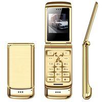 Original Ulcool V9 Luxus Telefon Dual SIM Karten Super Mini Flip Metal Handy mit 1,54 Zoll FM MP3 Bluetooth Dialer Anti-Lost-Handy