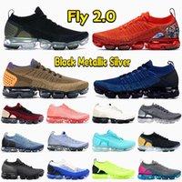 2022 Fly 2 .0 Men Running Shoes Black Metallic Silver Heel Graphic Team Orange Golden Beige Racer Blue Light Moon Women Mens Sneakers
