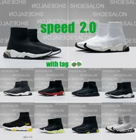 Maglia Elastico Parigi Shoe Donne Donne Uomini Casual Sock Platform Designer Luxury 1.0 2.0 Scarpe da passeggio Tripla Black Bianco Bianco Royal Red Speed Socks Sports Sneakers Boots Trainer