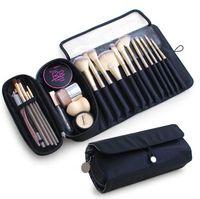Sac de maquillage Femme Cosmétique Brush Sac Travel Organisateur Maquillage Brosses Plier Outils Sacs de roulement étanche Nylon Maquillage Cas de maquillage Livraison Gratuite