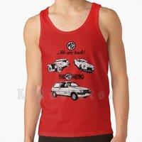 MG 메트로 탱크 탑스 조끼 100 % 코튼 오스틴 모리스 미니 티로 미니 자동차 자동차 브리티시 Leyland 1970 년대 1980 년대