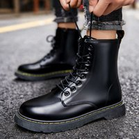 High-quality fashionDesigner fashion Martens motorcycle boots leather high-top plus size shoes 35-46 Dr casual