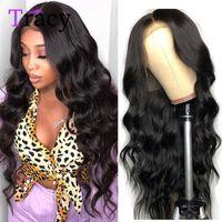 Parrucche di pizzo Tracy 13x4 front capelli umani 32 pollici brasiliano naturale capelli naturale onda pre-strappata frontale