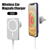 15 Вт Ци беспроводное автомобильное зарядное устройство крепление стойки быстрого магнитного беспроводного зарядного устройства быстрая зарядка горе AirVent Magnet Adsorbable телефон автомобильный держатель
