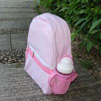 배낭 Domil Seersucker 유아 학교 가방 핑크 해군 및 도서 가방 사이드 메쉬 포켓 DOM106187