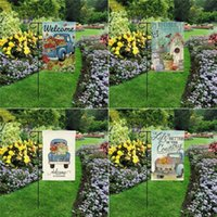 Spring and Summer Garden Flag Welcome Flags Linen Double Sided Printing 30 * 45cm 8 Colors T500875