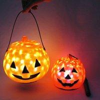 Halloween Lantern Pumpkin Gypsophila Portable Hangable Jack-o'-Lantern Holiday Lights Indoor Outdoor Decoration Party Toys no Battery
