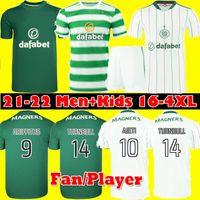 Fans Player Version 21 22 Jerseys de football celtique McGregor Griffiths 2021 2022 Duffy Forrest Christie Edouard Elyounoussi Turnbull Accueil Hommes Chemises de football pour enfants