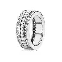 100% 925 gioielli in argento sterling a cinque giri surround crystal love smeraldo anello matrimonio per donne di lusso regalo di fascino anelli 389 G2