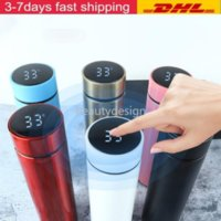 DHL SHip 450ml LED Insulated Vacuum Flask Smart Stainless Steel Thermal Bottle Temperature Display Screen Waterproof Thermo Mug FY4122 DD