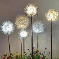 Солнечные лампы Fangnymph 4 шт. Одуванчик сад сад света Водонепроницаемый светодиодный светодиодный ландшафтный ландшафт газон украшения праздник света