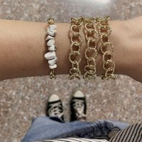 Earrings & Necklace 2 Pcs SetWomen Jewelry Set Bohemian Classic Geometric Gems Bracelet Long Chain Ladies Party Lover Gift