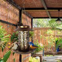 Autres fournisseurs d'oiseaux alimentés à énergie solaire Étanche Étanche Étanche Vintage suspendu Lampe extérieure grande capacité LED Night Jardin