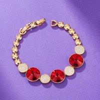 11.11 Kadınlar Bilezik Lüks Yuvarlak Zincir Mücevherat Avusturyalı Kristal Kızlar Için Yapılan Düğün Parti En Iyi Noel Bijoux Hediye