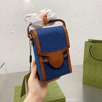مصممون الخصر مصغرة حقيبة كاميرا الهاتف الخليوي حقائب الكتف جودة عالية قماش أزياء العلامة التجارية مع مربع الأصلي حجم 19 17 سم