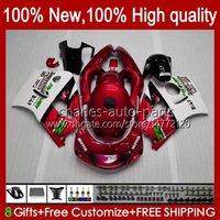 Red white Body Kit For SUZUKI SRAD GSX-R600 GSXR 600CC 750CC 750 600 CC 96 97 98 99 00 Bodywork 22No.84 GSXR600 GSXR-750 96-00 GSXR750 1996 1997 1998 1999 2000 Fairing