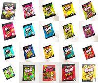 The latest six Trolli Trrlli All Star Very Berry Sour bag Brite LLamas edibles Gummies packaging smell proof resealable zipper pouch 600mg