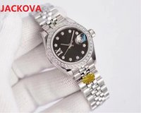 High quality 26mm fashion gold Ladies dress watch Diamonds dial waterproof mechanical automatic womens watches 316L Stainless steel strap bracelet Wristwatch