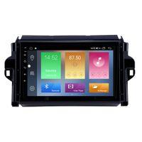 Touchscreen voiture DVD Radio GPS Navigation Player pour Toyota Fortuner Convert 2015-2018 avec TV numérique WiFi DVR 9 pouces Android 10 HD
