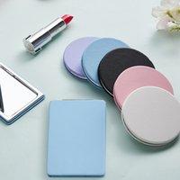 Atacado mini maquiagem espelho portátil portátil cor de doces pequenos bolso compacto espelhos para mulheres meninas viagem beleza diária