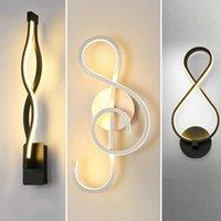 Duvar Lambası Avrupa LED Sanat Hattı Yatak Odası Başucu Yaratıcı Eğrisi Işık Modern Dekoratif Arka Plan Fikstür Işıkları
