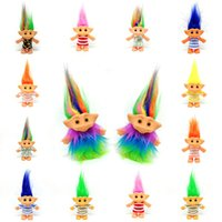 Post-80s Ropa nostálgica Troll Muñecos de esmalte Impresión offset The Ugly Baby L Funny Troll Doll Moll Collection NOSTALGIC Vestido Troll Muñeca Niños Juguetes