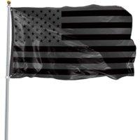 3x5ft preto bandeira americana poliéster sem trimestre será dado EUA EUA Proteção histórica bandeira bandeira bandeira dupla face ao ar livre 496