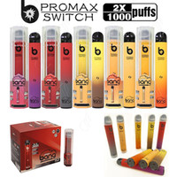 E-cigarrillos Bang Pro Max Switch Vape desechable Pen 2 en 1 Dispositivo 7Ml PODS 2000 Puffs XXTRA Double Flavs