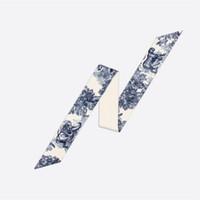 2021 D Tasarımcılar Ipek Eşarp Mitzah 100% Doğal İpek Eşarp Moda Kafa Lüks Markalar Kadınlar Ipek Scraves Susturucu Saç Bantları 105 * 6 cm
