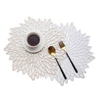 Yalıtım Pad Placemat yemek masası bardaklar için çiçek simülasyon bitki pvc fincan sehpa paspaslar mutfak Noel ev dekor oymak