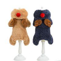 Abbigliamento per cani Abbigliamento invernale Abiti da compagnia Pet Natale Costume Cute Felpe con cappuccio Fumetto per Piccolo Dress Dress Xmas Cats Dogs
