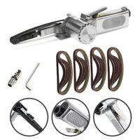 Ponceuse à poncé de la ceinture à air ponceuse machine pneumatique 330mm x 10mm de ponçage de fichier