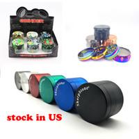 Lo stock in US Tobacco Herb Grinder Sharpstone 50/55 / 63mm in lega di zinco Grinder Metallo Crusher Electrical Colors Adatta qualsiasi carica telefonica