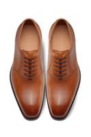 2021 새로운 디자인 순수 수제 하이 엔드 맞춤형 남성 신발 송아지 가죽 라이닝, 블랙 가죽 outsole 끈, 뒤꿈치 높이 3mm