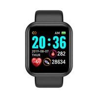 Su geçirmez Adımsayar Bluetooth Akıllı İzle Y68 Erkekler Kadınlar Kan Basıncı Spor Izci Bilezik Saat D20 Spor Smartwatch Uyumlu iPhone Android Apple