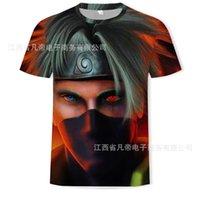 T-shirts Hommes Imprimer Mode Japonais Anime Naruto Caractère T-shirt à manches courtes