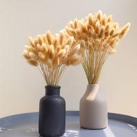 Ramo de cola de conejo Flores secas naturales Decoración de la casa de campo para el hogar Party Decorativo Real Hierba Manojo Accesorios