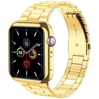 Business Smart Straps Apple Watch Band 40mm 44mm 38mm 42mm With Case Upgraded Stainless Steel Bands + Screen Protector Cover for iWatch Series 6 SE 5 4 3 2 1
