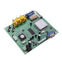 Conectores de Cabos de Áudio Conectores de Alta Qualidade Gbs8200 Video Converter Placa para RCA para VGA Arcade Game HD Placas de Conversão de Games w / Fio