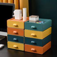 Almacenamiento de oficina Caja de clasificación de múltiples capas Caja de clasificación Cajas de cosméticos de cajón FHL82-WLL